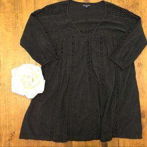 Laced Boho T-shirt Dress